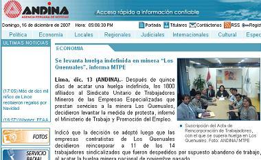 andina 13 dediciembre