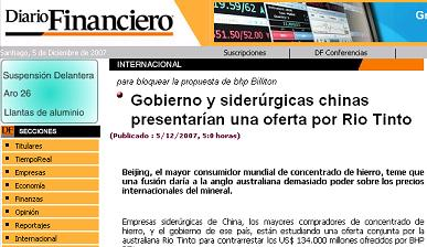 shougang diario Financiero