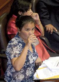 Congresista Yaneth Cajahuanca