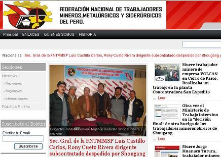Sistema de noticias de la FNTMMSP