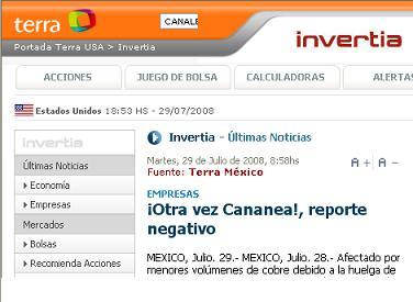 Inervtia.com, 28 de julio 2008