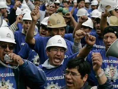 Trabajadores mineros de Antamina