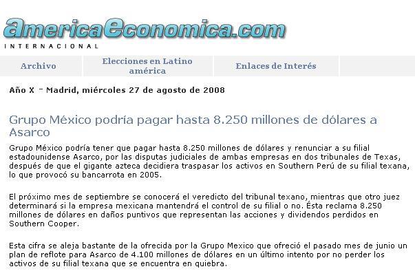 America Económica, 27 de agosto del 2008