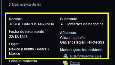 """Datos desde el NETBLOG, del """"sindicalista minero"""", Jorge Campos Miranda"""