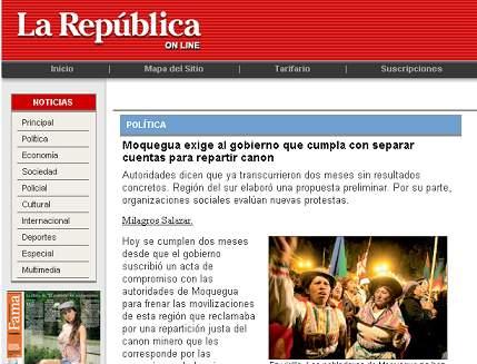 La República,19 de agosto del 2008