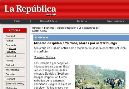 """Diario """"La República"""", 8 de agosto del 2008"""