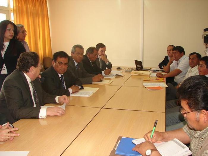 Reunión en el MTPE, 14 de agosto del 2008