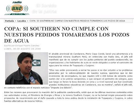 Radio Uno. 4 de agosto 2008