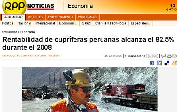 RPP noticias, 9 de septiembre del 2008
