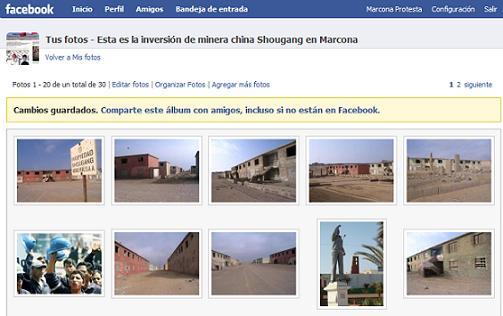 facebook Marcona Protesta