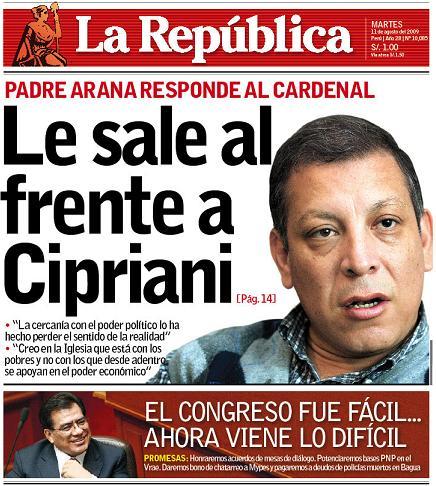 La República, 11 de agosto del 2009.