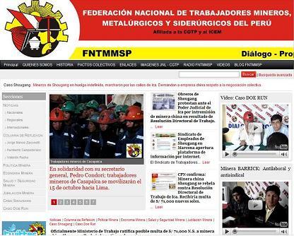 Sistema de Noticias de la FNTMMSP.